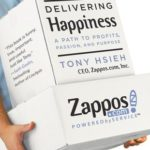 Book cover: Delivering Happiness: A Path to Profits, Passion, and Purpose by Tony Hsieh.