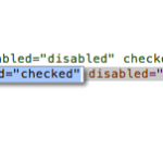 HTML code showing that an opt-out form has been disabled.