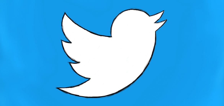 A hand-drawn Twitter 'bird' logo