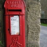 British Edwardian Postbox -- how many people are on your mailing list?