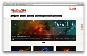 WordPress theme: Parabola