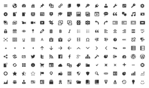 WordPress dash icons